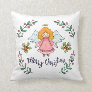 Coussin Carreau simple pourtant beau de l'ange   de Noël