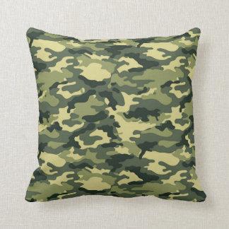 Coussin Carreau vert de motif de camouflage