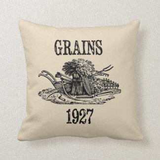 Coussin Carreau vintage de ferme de style de grains