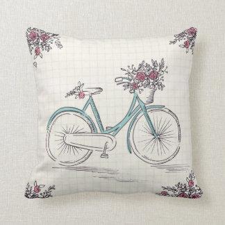 Coussin Carreau vintage de polyester de bicyclette