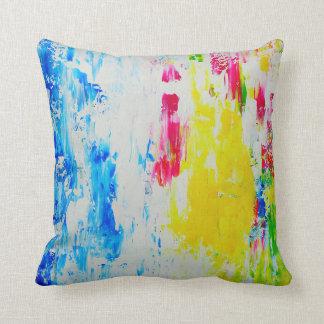 Coussin Carreaux colorés d'art abstrait