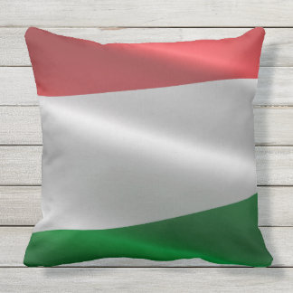 Coussin Carreaux de drapeau de la Hongrie