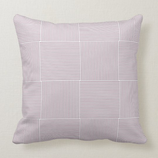 Coussin Carreaux rayures rose