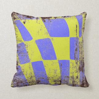 Bleu et jaune coussins carr s bleu et jaune housses de - Coussin jaune et bleu ...