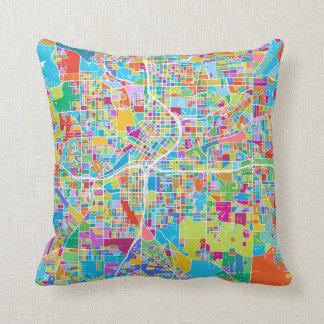 Coussin Carte colorée d'Atlanta