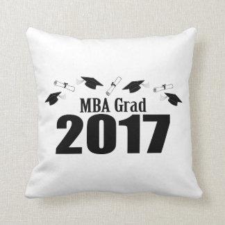 Coussin Casquettes du diplômé 2017 de MBA et diplômes