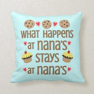 Coussin Ce qui se produit au carreau décoratif de Nana