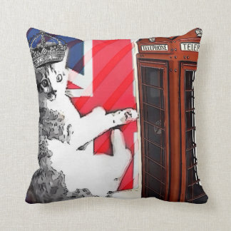 Coussin chat de minou de couronne de cabine téléphonique