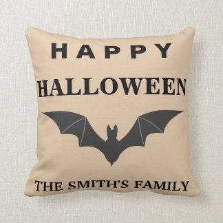 Coussin Chauve-souris heureuse personnalisée de Halloween