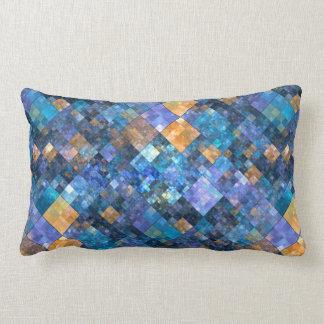 Coussin Checkered coloré de motif de mosaïque
