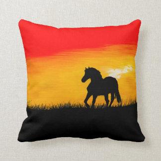 Coussin cheval de coucher du soleil