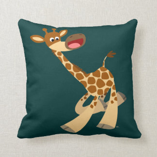 Coussin chevauchant de girafe de bande dessinée