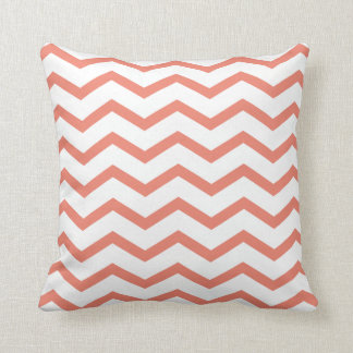 coussin chevrons corail