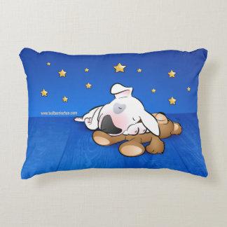 """Coussin """"chiot de bull-terrier de sommeil """""""
