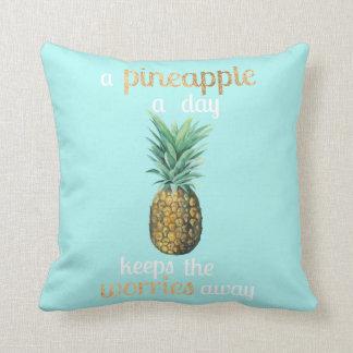 Coussin Citation de la vie d'ananas