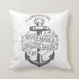Coussin Citation de motivation nautique de marin