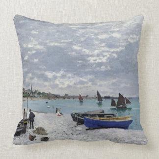 Coussin Claude Monet | la plage chez Sainte-Adresse