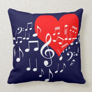 Coussin Coeur de chant un-de-un-aimable