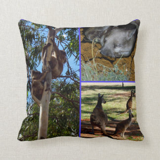 Coussin Collage australien de photo d'animaux sauvages,