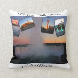 Coussin Collage de photo de chutes du Niagara