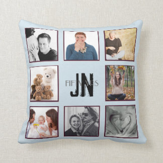 Coussin Collage de photo TOUT monogramme Instagram