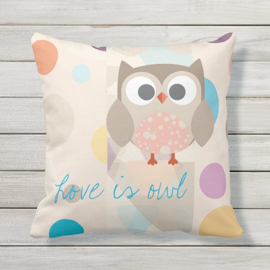 """Coussin Collection """"Love is owl"""""""
