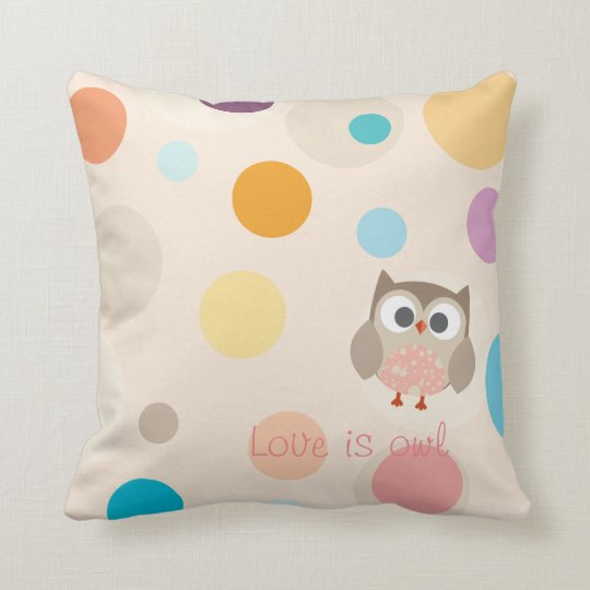 "Coussin Collection ""Love is owl"""