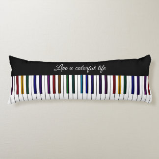 Coussin coloré de corps de clavier de piano de