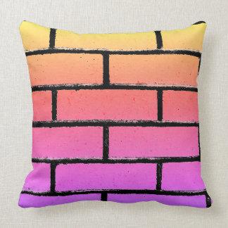 Coussin coloré de mur de briques