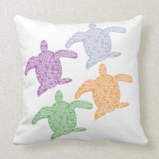 Coussin coloré de tortue