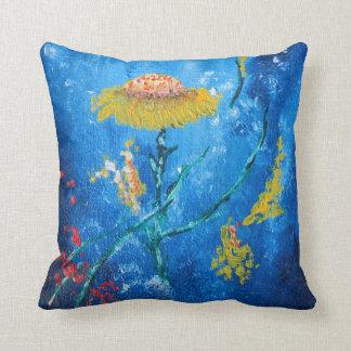 Coussin Compositio abstrait de fleurs colorées lumineuses