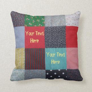 Coussin conception vintage de tissu de patchwork de style