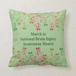 Coussin Conscience de lésion cérébrale de vert de Nil
