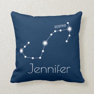 Coussin Constellation personnalisée de zodiaque de