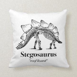 Coussin Cool squelettique d'os de dinosaure de Stegosaurus