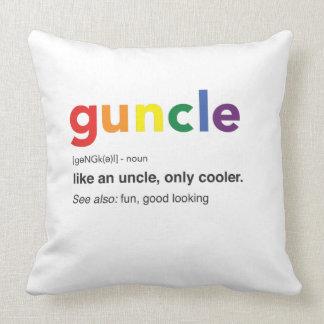 Coussin Copie drôle de définition de Guncle