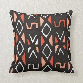 Coussin Copie tribale de Mudcloth d'Africain orange