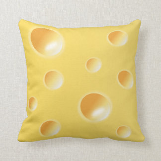 Coussin/coussin jaunes de texture de fromage coussins carrés