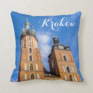 Coussin Cracovie, Pologne, église de Mariacki, beau