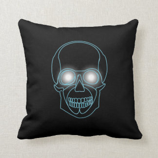 Coussin Crâne au néon avec la conception brillante de yeux