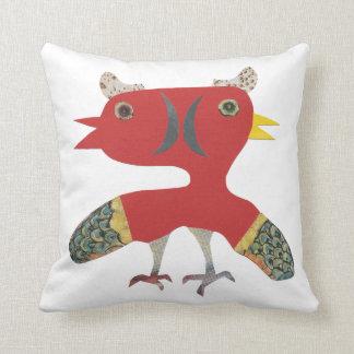 Coussin créature drôle d'oiseau de jumeau d'imaginaire