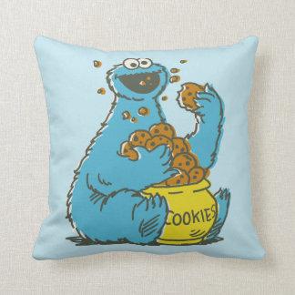 Coussin Cru de monstre de biscuit