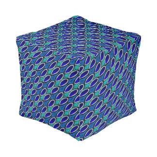 Coussin cube Jimette Design bleu blanc et noir
