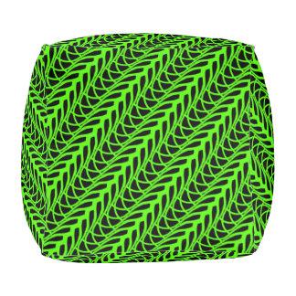 Coussin cube Jimette Design vert et noir.