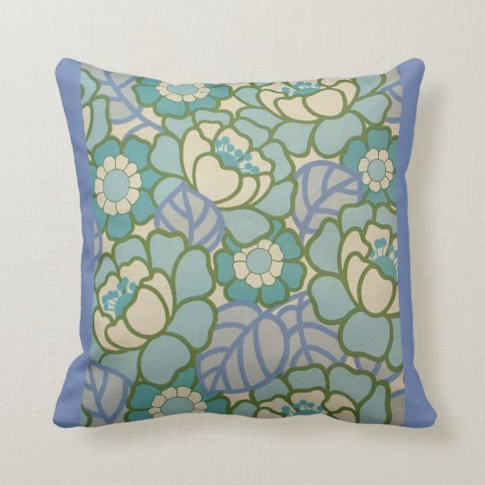 COUSSIN CUSHION BLUE WITH FLOWERS