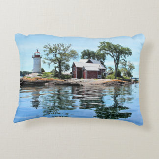 Coussin d'accent de New York de phare d'île de