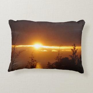 Coussin d'Alaska de couchers du soleil
