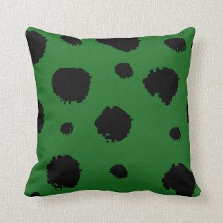 Coussin Dalmation vert