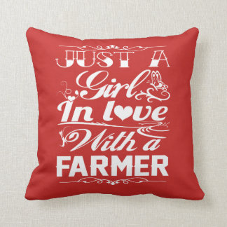 Coussin Dans l'amour avec un agriculteur