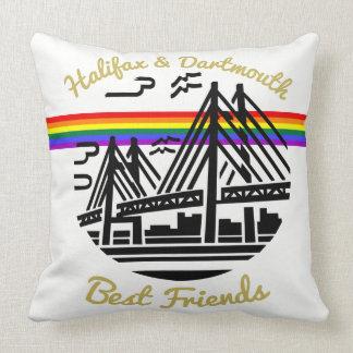 Coussin d'arc-en-ciel d'amis de Halifax Dartmouth